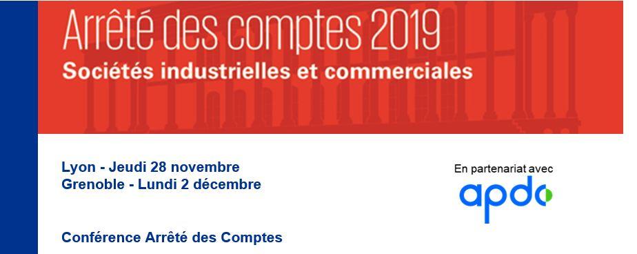 28/11/2019 - APDC Lyon : Conférence Arrêté des comptes 2019